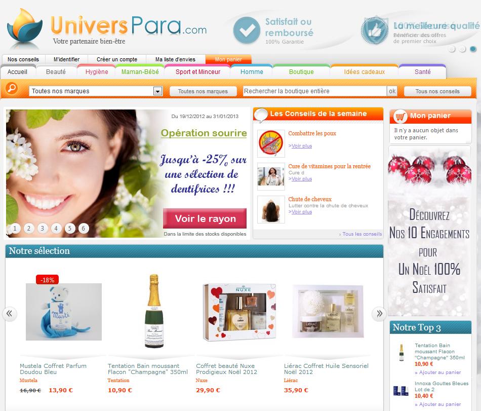 parapharmacie en ligne UNIVERSPARA.COM