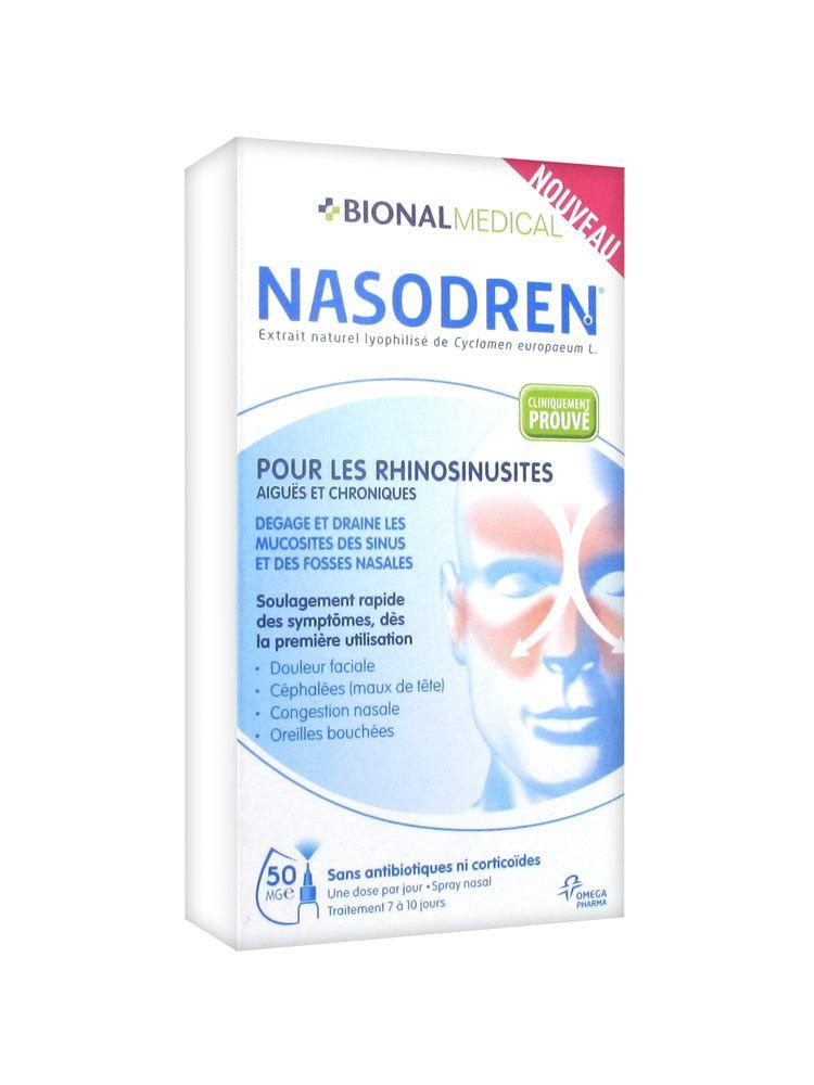 Prix d'omega Nasodren Spray Nasal à l'Extrait de Cyclamen 50mg