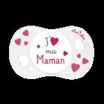 Luc et Léa Sucette 0/6 mois Symbole J'Aime ma Maman