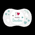 Luc et Léa Sucette 0/6 mois Physiologique J'Aime Mon Doudou