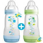 MAM Biberon Anti-Colique Easy Start 260ml Lot de 2 Bleu/Vert