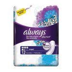 Always Discreet Maxi 12 serviettes
