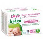Love & Green 36 Couches Hypoallergéniques de 3 à 6 kg