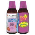 Forte Pharma TurboDraine Framboise 2x500ml - 50% OFFERT sur la 2ème bouteille