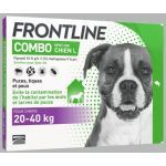 Frontline Combo Spot On Chien L 20-40 kg 4 pipettes