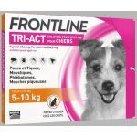 Frontline Tri-Act chiens 5-10kg 6 pipettes