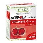 Herbesan Acérola 1000mg Vitamine C 180mg à Croquer X30