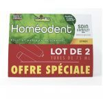 Homéodent Soin Complet Dents Gencives Citron 2x75ml