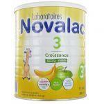 Novalac 3 Croissance Préparation Lactée Pomme Banane 800g