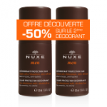 Nuxe Men Déodorant protection 24H anti-traces, anti-taches lot 2x50ml