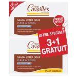 Rogé Cavaillès Savon Extra-doux Fleur de Coton 3+1OFFERT