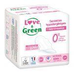 Love & Green 14 Serviettes Hypoallergéniques Normal