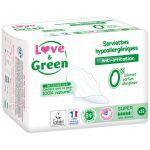 Love & Green 12 Serviettes Hypoallergéniques Super