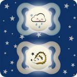 Mam Sucettes Suprême Silicone Nuit 2-6 mois X2-Nuage bleu