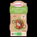 Babybio Bol Trio de Patate Douce, Butternut de Provence, Roquefort 2X200g*