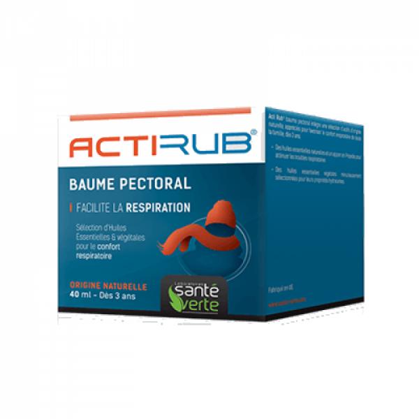 Actirub Baume Pectoral 40 ml à prix discount| Santé Verte
