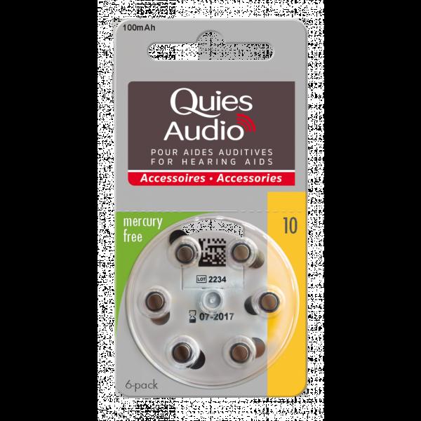 Audio Piles Pour Aides Auditives N°10 au meilleur prix  Quies