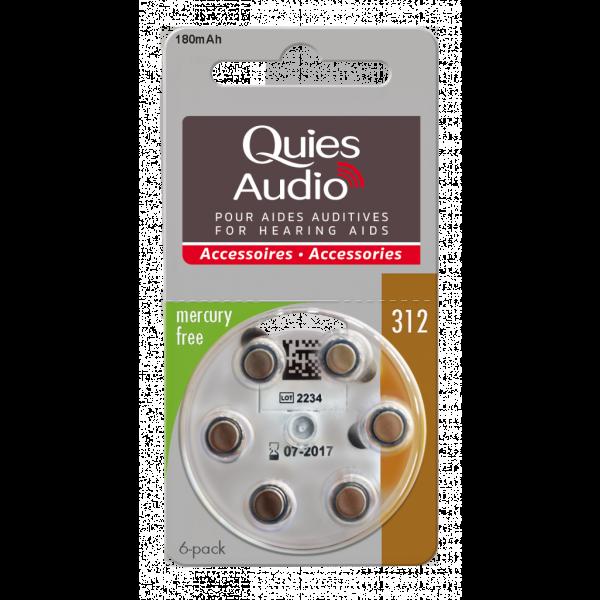 Audio Piles Pour Aides Auditives N°312 à prix bas| Quies