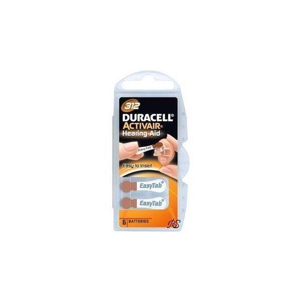 Achetez Duracell Piles Auditives N°312 x6  moins cher