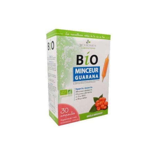 Bio Minceur Guarana 30 ampoules moins cher| Les 3 Chênes