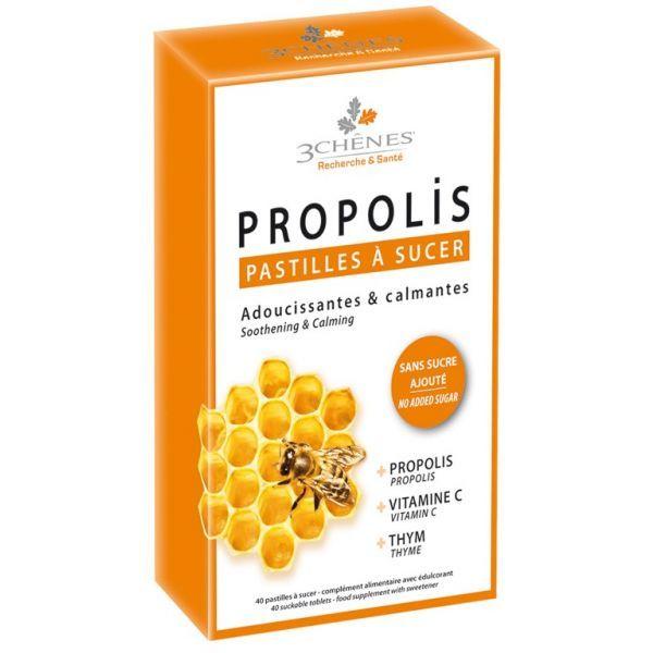 Propolis 40 Pastilles à sucer  au meilleur prix| Les 3 Chênes