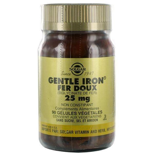 Gentle Iron Fer Doux 90 Gélules Végétales à prix discount| Solgar