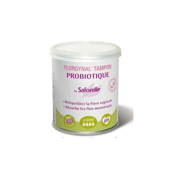 Florgynal Tampon Probiotique 8 Super au meilleur prix  Saforelle