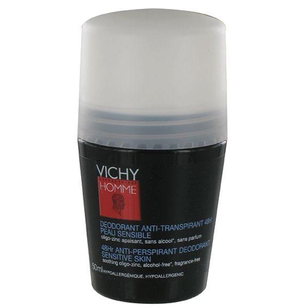 Homme Déodorant Anti-Transpirant 48H bille 50ml moins cher| Vichy