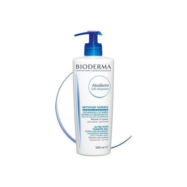 Atoderm  Intensive Gel Moussant Surgras 500ml  moins cher  Bioderma
