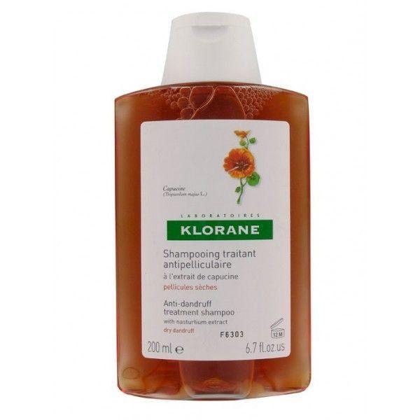 Shampooing Traitant Antipelliculaire à l'Extrait de Capucine 200ml moins cher| Klorane
