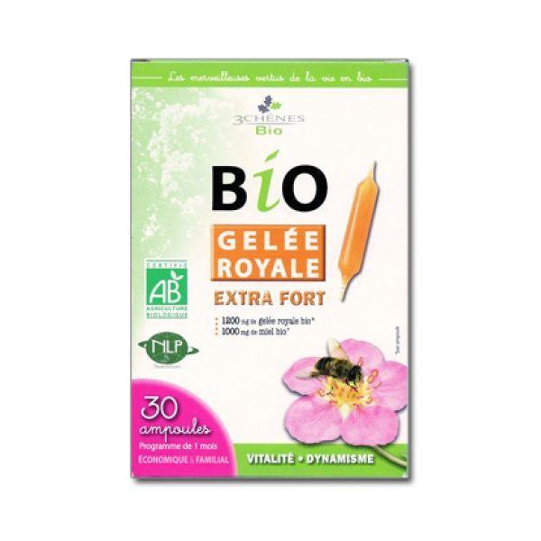 Bio Gelée Royale Extra Fort 30 Ampoules à prix discount  Les 3 Chênes
