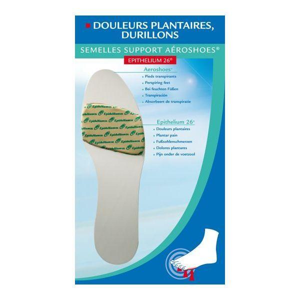 Semelles Support Aeroshoes Epithelium 26, Douleurs Plantaires Durillons 40/41 à prix discount  Epitact