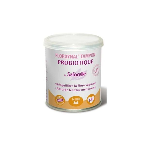 Florgynal Tampon Probiotique 14 Mini moins cher  Saforelle
