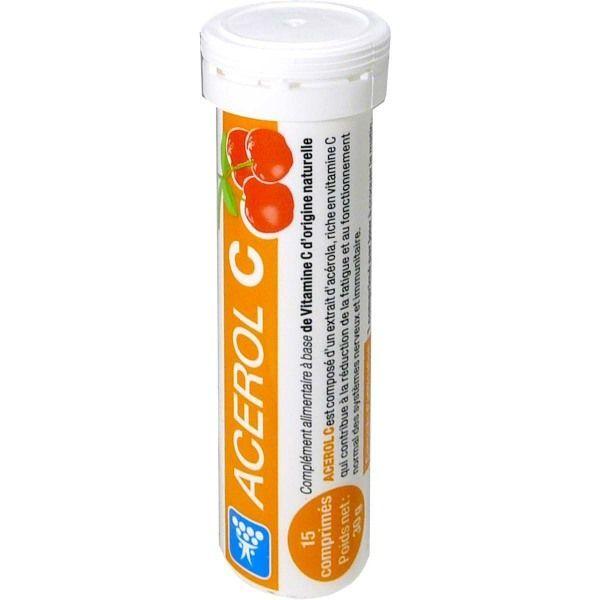 ACEROL C VITAMINE C NATURELLE 15 COMPRIMES moins cher| NUTERGIA