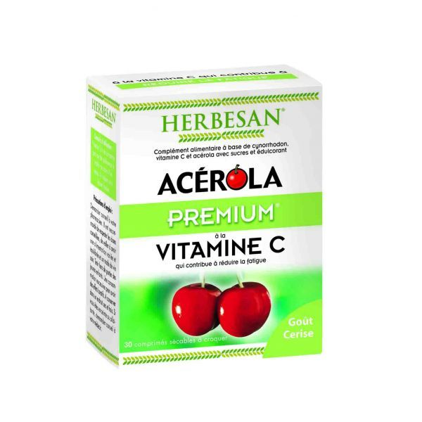 Acerola Premium 30 comprimés à prix discount| Herbesan