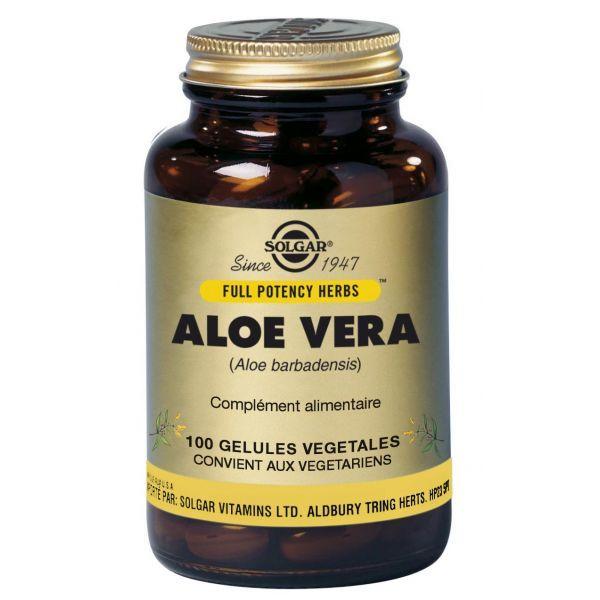 Aloe Vera 100 Gélules Végétales au meilleur prix| Solgar