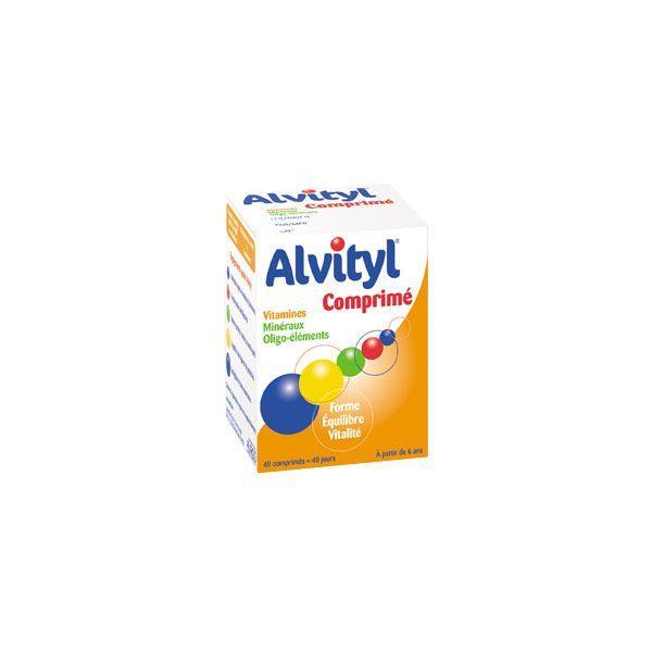 12 vitamines et 7 minéraux 40 comprimés moins cher| Alvityl