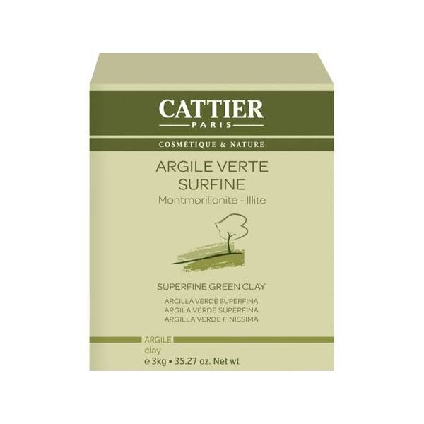 Argile Verte Surfine 3Kg. à prix discount| Cattier