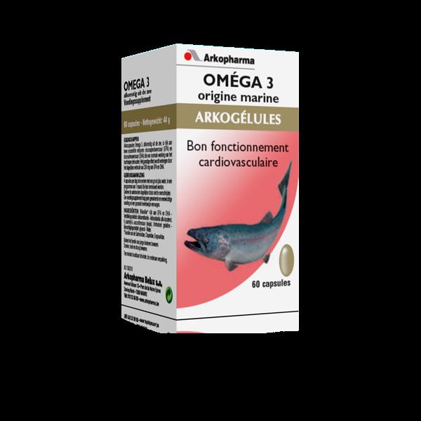 Omega 3, Origine marine 60 gélules à prix bas| Arkogélules