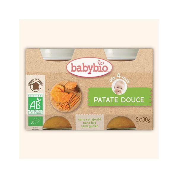 Achetez au meilleur prix les Petitis Pots Bio aux Patates Douces de babybio