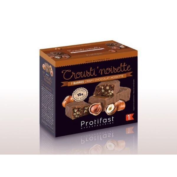 Crousti Noisette Barres X7 Hyperprotéinées Protifast