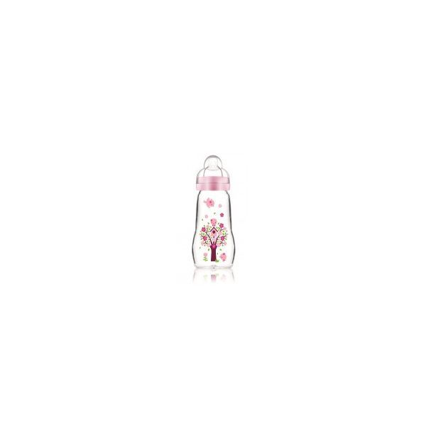 Biberon Verre 260ml Rose moins cher| MAM