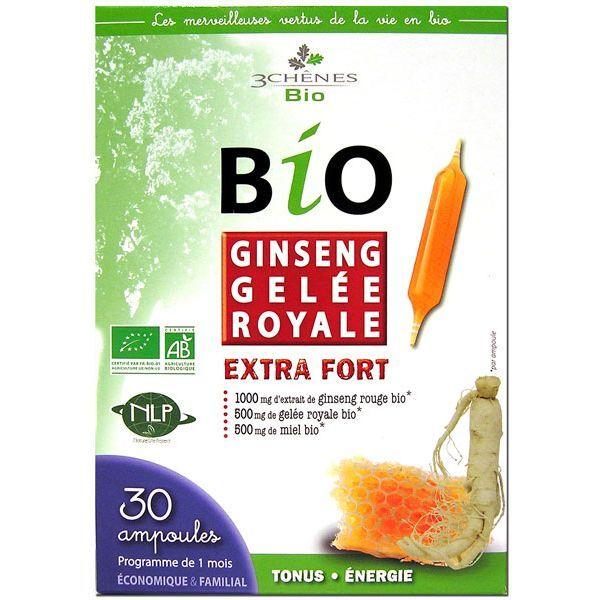 Bio Ginseng Gelée Royale 30 ampoules à prix discount| Les 3 Chênes