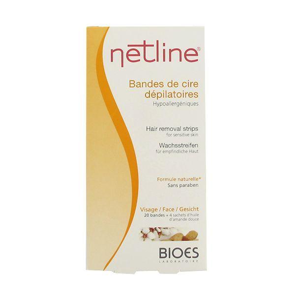 Netline Bandes de Cire Dépilatoires Visage x20 moins cher| Bioes