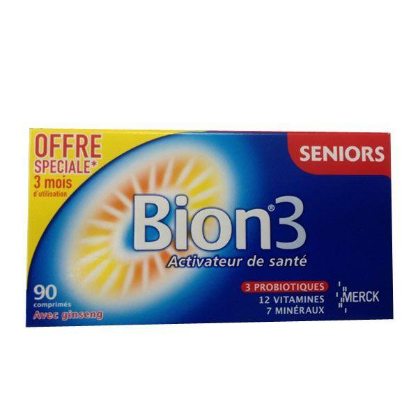 3 Défense Seniors 90 comprimés moins cher  Bion
