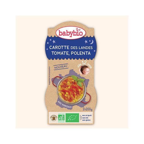 Achetez au meilleur prix Bol Bonne Nuit Carottes des Landes Tomate Polenta de Babybio