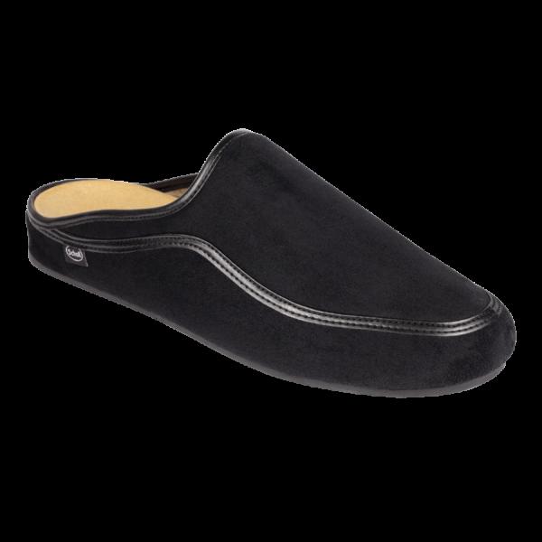 Scholl chaussons mules homme Brandy noir