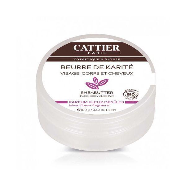 Beurre de Karité Parfum Fleur des Iles 100 g. à prix discount| Cattier