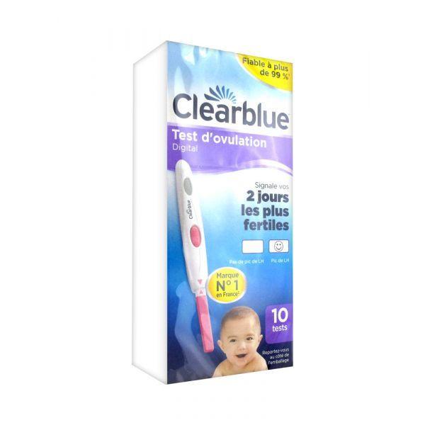 Digital Test d'ovulation  10 Tests au meilleur prix| Clearblue