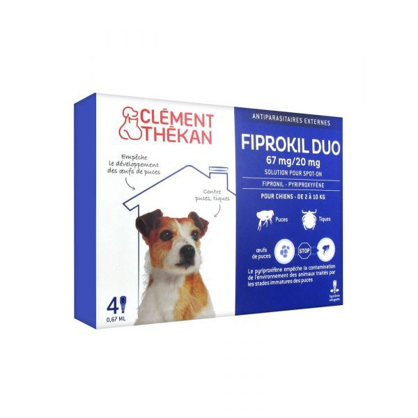 Fiprokil Duo Chien 2 à 10 Kg x 4 pipettes. à prix discount  Clément Thekan